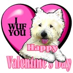 West Highland White Terrier  Valentines Day Gifts