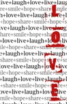 live+laugh+love: inspirational collage