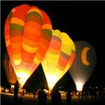 Three Glowing Balloons
