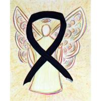 Black Awareness Ribbon Angel