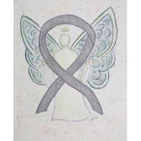 Silver Awareness Ribbon Angel
