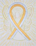Gold and Silver Awareness Ribbon Angel