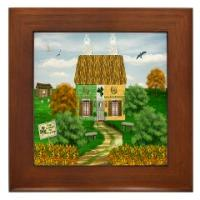 Irish Village Series© Framed Ceramic Tiles