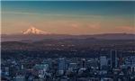 Mt. Hood over Portland