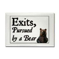 Exits, Pursued by a Bear