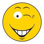 Flirting Winking Smiley Face