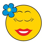 Smiley Face Girl With Flower