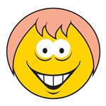 Pink Hair Smiley Face