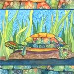 Tie Dye Turtle Watercolor