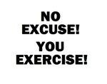 NO EXCUSE! YOU EXERCISE!