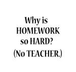 WHY IS HOMEWORK HARD? NO TEACHER