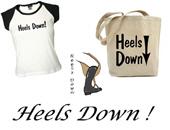 heels down !