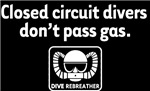 CC Divers Don't Pass Gas! On Black