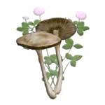 Brown Mushrooms Pink Clover