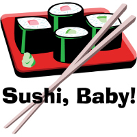 Cool Sushi Baby! California Roll T Shirts and Gift