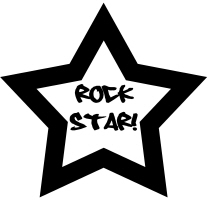 Rock Star T-Shirts, Buttons, Gifts, Stickers