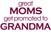 Great moms get promoted to grandma tshirt
