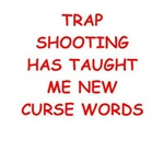 a funny trap shooting joke on gifts and t-shirts