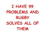 a rugby joke on gifts and t-shirts.