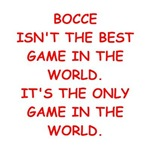 a funny bocce joke on gifts and t-shirts.