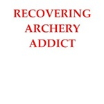 a funny archery joke on gifts and t-shirts.