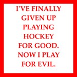 a funny hockey joke on gifts and t-shirt.
