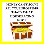 horse racing humor on gifts and t-shirts.