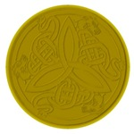 Gold Embossed Dragon Trinity Knot Coin