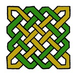 Green & Gold Celtic Knot