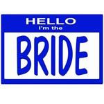 Bride Wedding Nametag (blue)