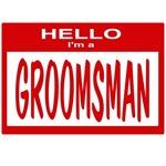 Groomsman Nametag (red)