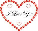 I Love You Heart Design