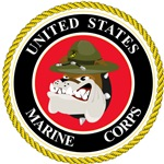 Small Devil Dog USMC Seal design