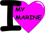 Pink2 - I Love My Marine Design