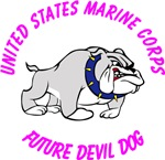 USMC Future Devil Dog Design - Pink