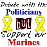Debate Politicians Support Marines