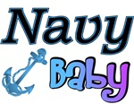 Navy Baby blue anchor