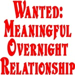 Wanted: Meaningful overnight relationship.