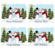 Snowman Family T-Shirts, Apparel & Gifts