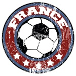 France Soccer (distressed)