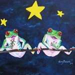 Romantic Frogs under the Starry Skies