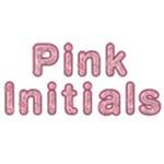 Pink Initials Ovals