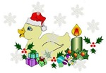 Yellow Christmas Duck