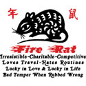 Chinese Zodiac Fire Rat T-Shirt