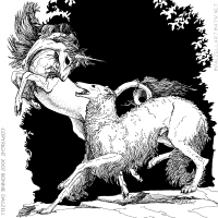Borzoi and Unicorn