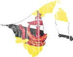 Brunei Flag And Map