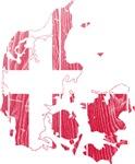 Denmark Flag And Map
