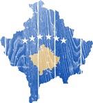 Kosovo Flag And Map