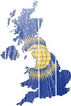 United Kingdom Commonwealth Flag And Map