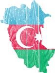 Azerbaijan Flag And Map